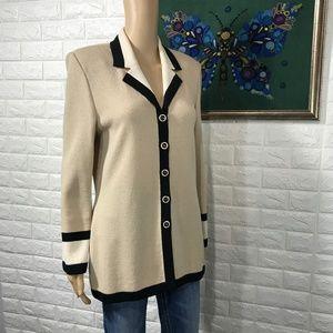 Vintage St. John Sweater Blazer size 6